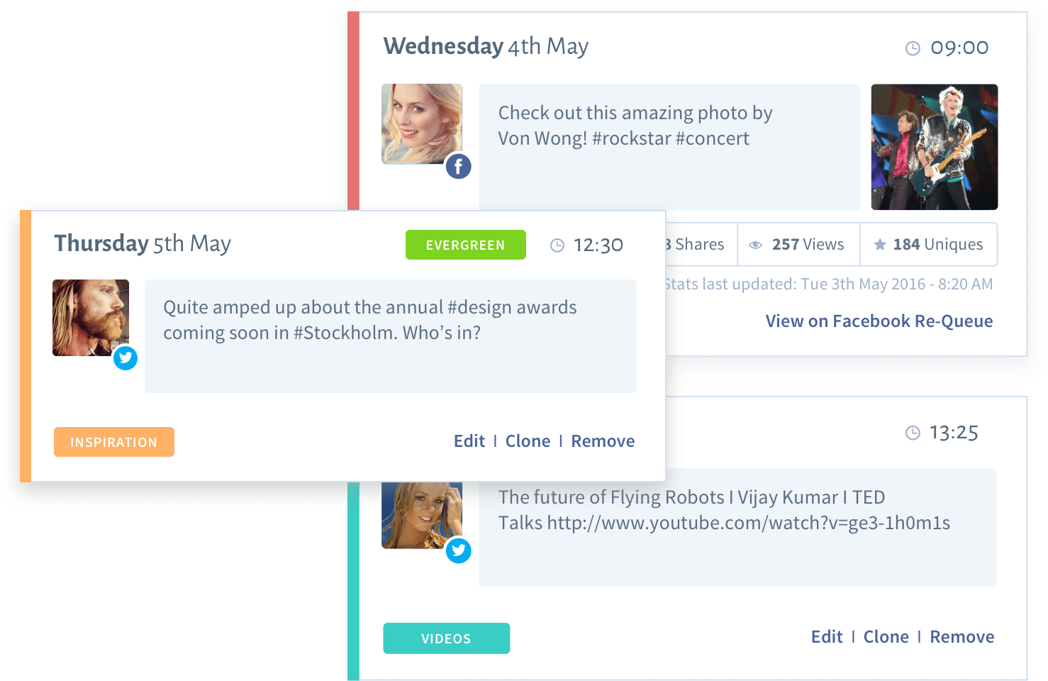 Image of social content posted with SmarterQueue