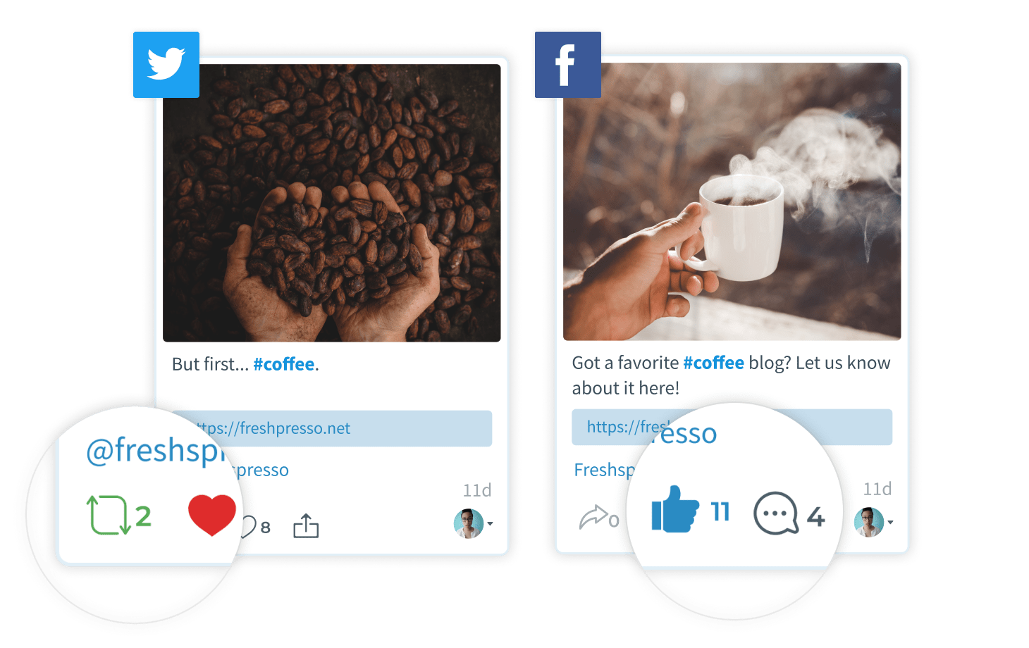 Like, comment on, and retweet social posts directly from SmarterQueue