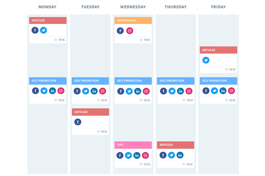 SmarterQueue is a category-based social media scheduling tool