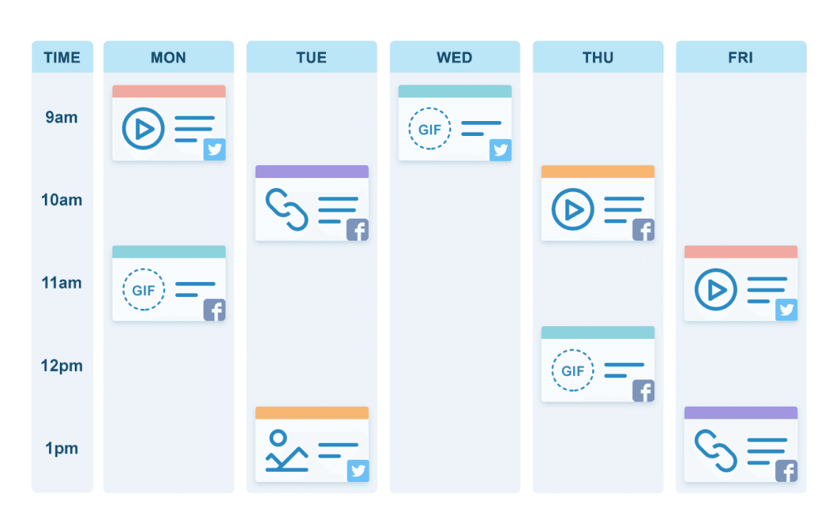 With one unified social media calendar, you can preview and rearrange content with ease